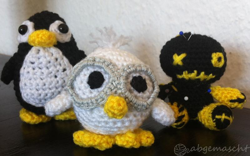 Aus Eins Mach Drei Pinguin Huhn Voodoo Puppe Abgemascht