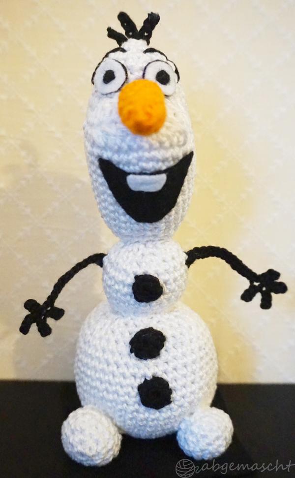Gehäkelter Schneemann Olaf - Frozen Crochet - abgemascht.de