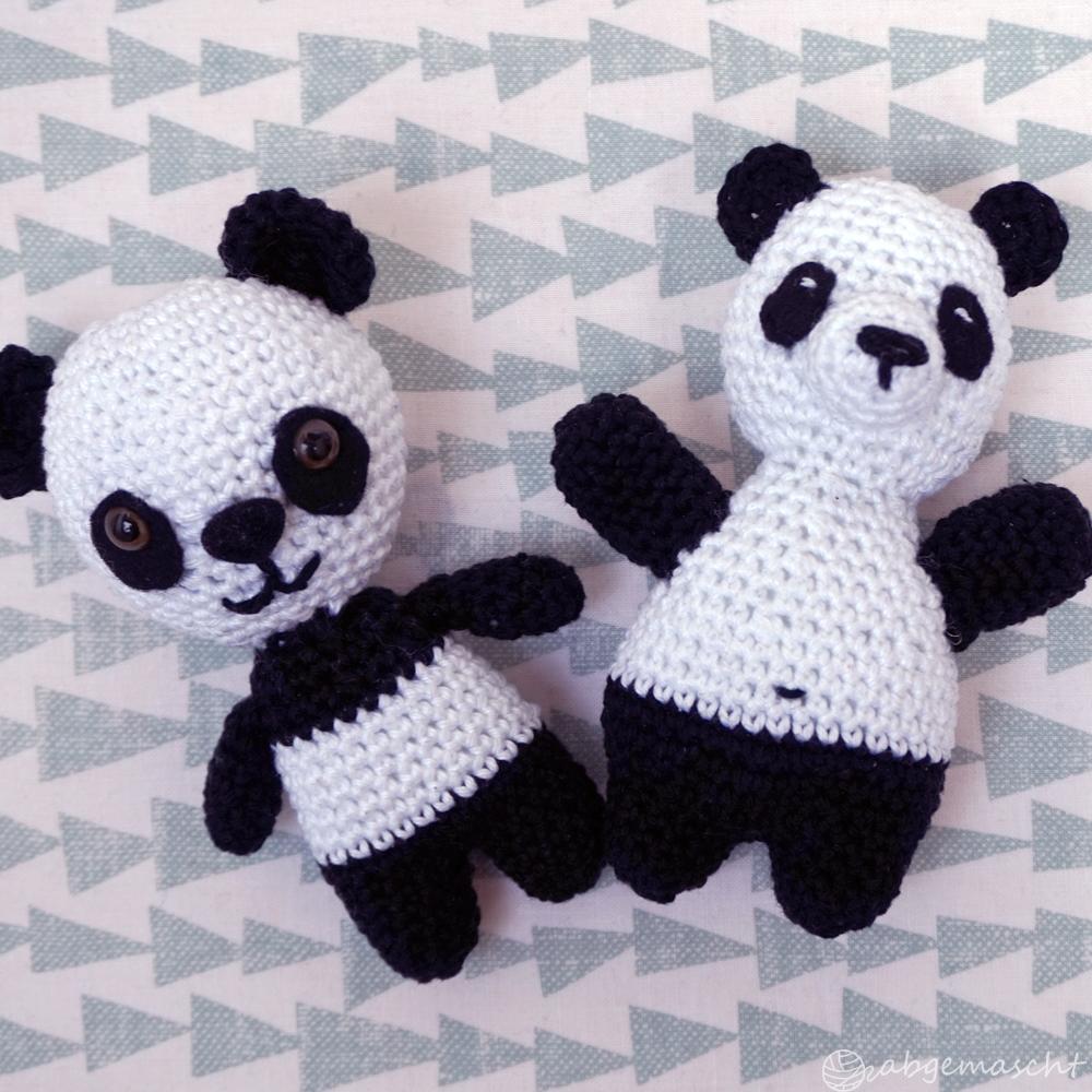 Pandas häkeln - Amigurumi - abgemascht