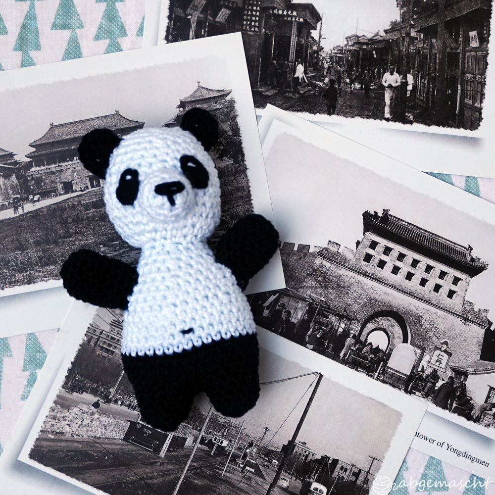 Panda häkeln - Lieblingsstück - abgemascht.