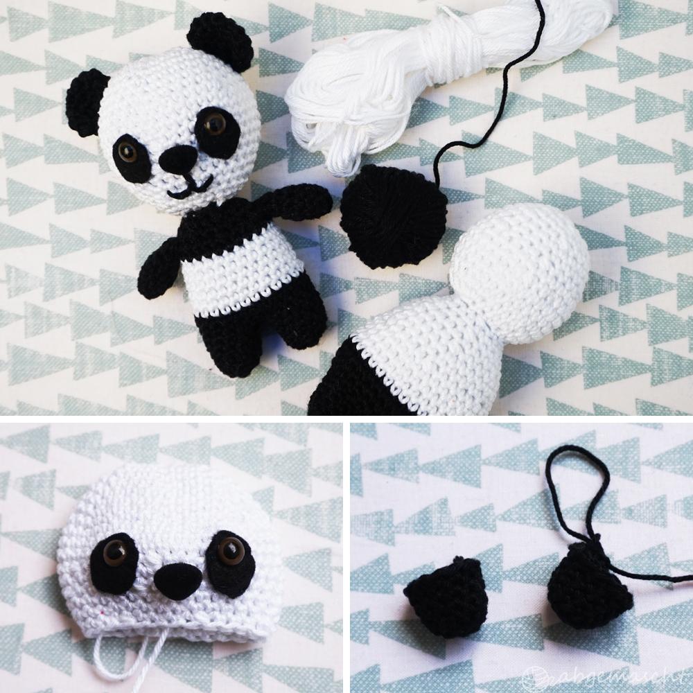 Pandas häkeln - Schritt für Schritt