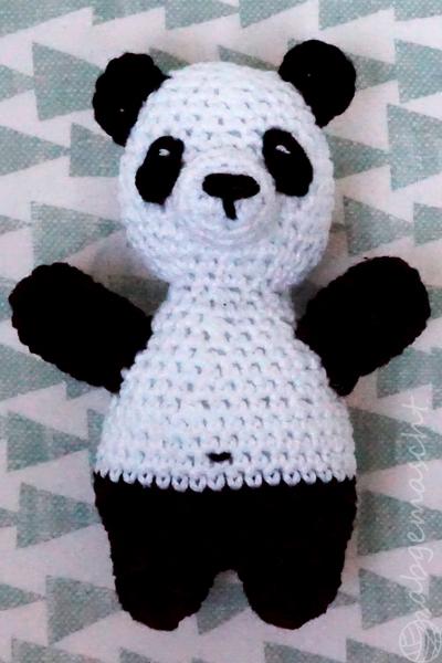 Weltmeister mit den Häkelhelden - Panda Variante 3