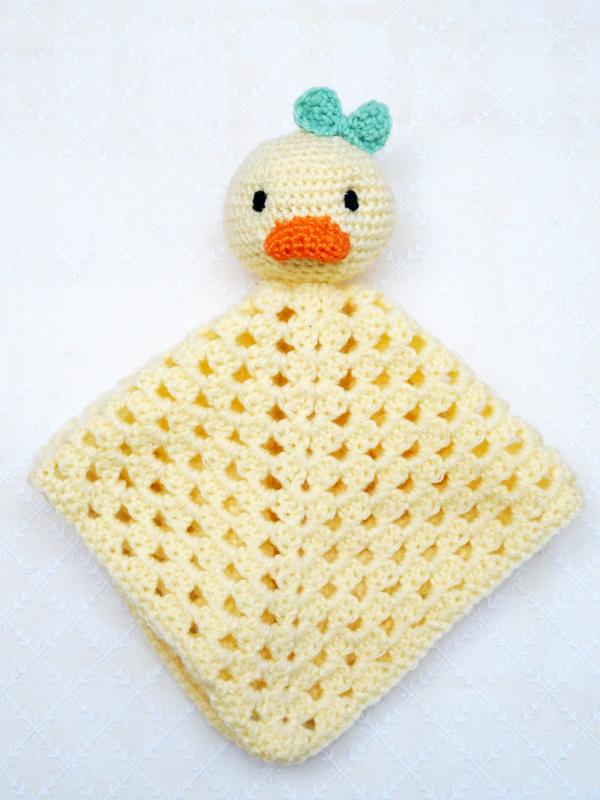 Schnuffeltuch-Ente häkeln | kostenlose Häkelanleitung