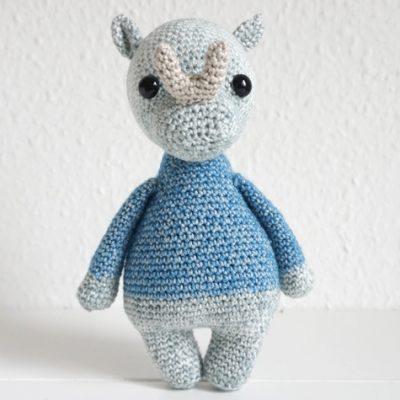 benny brontotherium baby abgemascht nashorn häkeln crochet