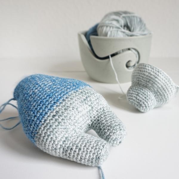 benny brontotherium baby abgemascht häkeln crochet