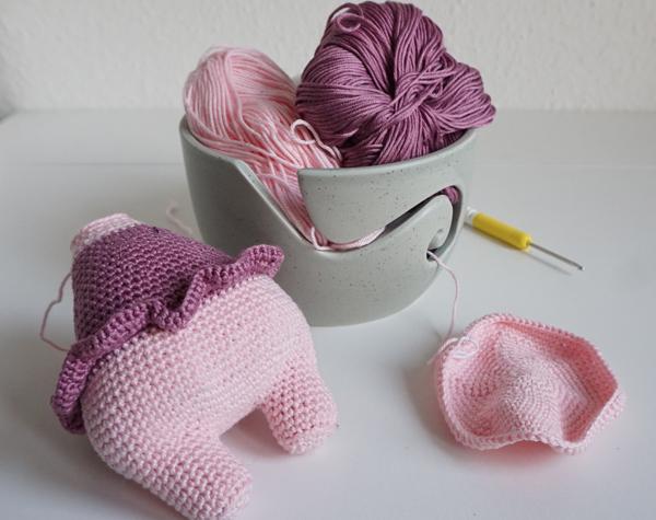 Luna Häkelschwein crochet pig piglet abgemascht