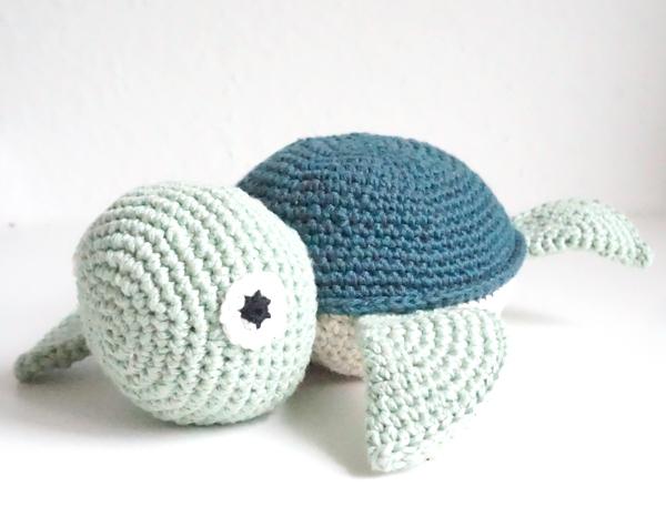 gehäkelte schildkröte abgemascht amigurumi