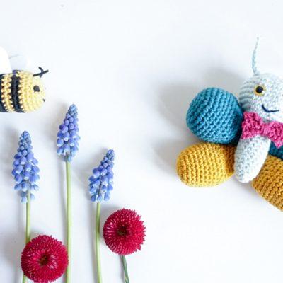 Es wird Frühling! – inkl. Häkelanleitung Biene | Free Bee Pattern